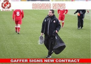 GAFFER SIGNS NEW CONTRACT