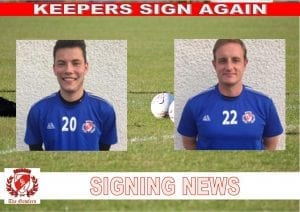 KEEPERS SIGN AGAIN